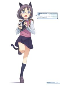 Rating: Safe Score: 28 Tags: animal_ears kanzaki_hiro megane nekomimi seifuku tabgraphics tail User: MosquitoJack