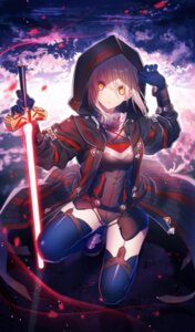 Rating: Safe Score: 61 Tags: armor fate/grand_order heroine_x heroine_x_alter natsu_tora stockings sword thighhighs User: RyuZU
