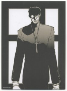 Rating: Safe Score: 5 Tags: alexander_anderson hellsing hirano_kouta male monochrome User: Radioactive