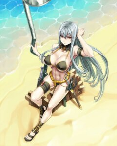Rating: Questionable Score: 54 Tags: bikini cleavage erect_nipples garter selvaria_bles shunzou swimsuits sword underboob valkyria_chronicles User: mash