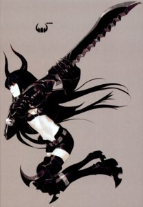 Rating: Safe Score: 37 Tags: black_gold_saw black_rock_shooter horns huke sword vocaloid User: Radioactive