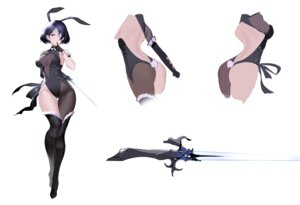 Rating: Questionable Score: 17 Tags: an_yasuri animal_ears ass bunny_ears bunny_girl character_design heels no_bra see_through sketch sword tail thighhighs User: Dreista