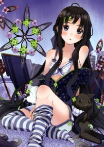 Rating: Questionable Score: 65 Tags: bra densou stockings thighhighs undressing User: Ulquiorra93
