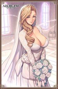 Rating: Safe Score: 70 Tags: azur_lane cleavage dress hood_(azur_lane) oda_non wedding_dress User: moonshadow129