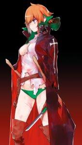 Rating: Questionable Score: 22 Tags: breasts dungeon_ni_deai_wo_motomeru_no_wa_machigatteiru_darou_ka no_bra pantsu thighhighs torn_clothes weapon yasuda_suzuhito User: kiyoe