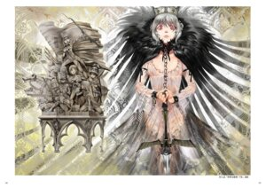 Rating: Safe Score: 8 Tags: dress moruga rozen_maiden suigintou sword thighhighs User: Radioactive