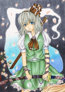 Rating: Safe Score: 3 Tags: conductance konpaku_youmu myon touhou User: konstargirl