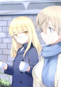 Rating: Safe Score: 12 Tags: eila_ilmatar_juutilainen megane perrine-h_clostermann shimada_humikane strike_witches uniform User: Radioactive