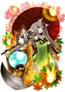 Rating: Safe Score: 17 Tags: animal_ears berid kongiku oboro_muramasa tail yuzuruha User: tusso