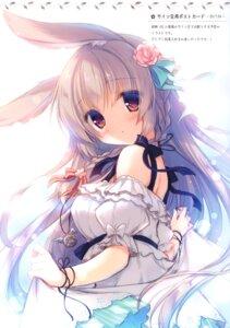 Rating: Safe Score: 24 Tags: animal_ears bunny_ears dress skirt_lift tagme yukie User: kiyoe