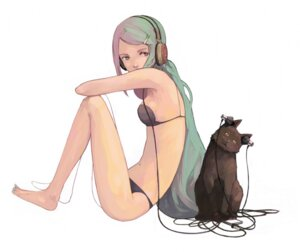 Rating: Safe Score: 35 Tags: bra guitar_(artist) hatsune_miku headphones neko pantsu vocaloid User: Lua