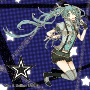 Rating: Safe Score: 14 Tags: buzz hatsune_miku like_a_rolling_star_(vocaloid) thighhighs vocaloid User: yumichi-sama