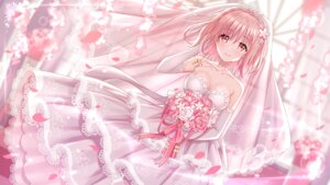 Rating: Questionable Score: 72 Tags: cleavage date_a_live dress heishan sonogami_rinne wallpaper wedding_dress User: sym455