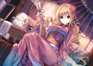 Rating: Safe Score: 89 Tags: fal_maro kimono puella_magi_madoka_magica tomoe_mami User: Aneroph