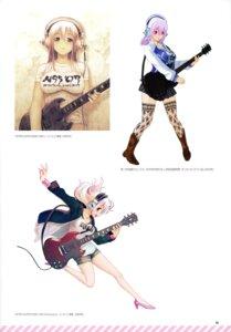 Rating: Safe Score: 6 Tags: guitar headphones sonico super_sonico tsuji_santa User: kiyoe