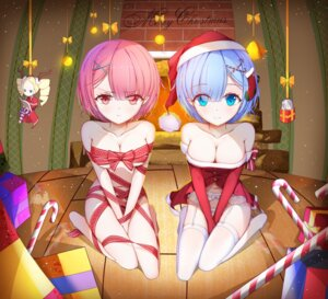 Rating: Questionable Score: 113 Tags: asa_ni_haru beatrice_(re_zero) bondage christmas dress emilia_(re_zero) garter_belt heels horns naked_ribbon open_shirt pantyhose ram_(re_zero) re_zero_kara_hajimeru_isekai_seikatsu rem_(re_zero) stockings thighhighs User: kiyoe
