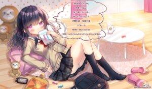 Rating: Safe Score: 22 Tags: kohaku_muro pantsu seifuku sweater wardrobe_malfunction User: BattlequeenYume