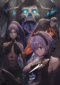 Rating: Questionable Score: 16 Tags: assassin_(fate/zero) fate/stay_night fate/zero hassan_of_serenity_(fate) no_bra weapon User: Mr_GT