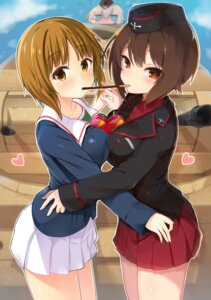 Rating: Safe Score: 40 Tags: girls_und_panzer seifuku symmetrical_docking tagme uniform valentine User: nphuongsun93