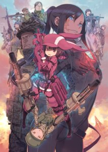 Rating: Safe Score: 29 Tags: bodysuit gun kuroboshi_kouhaku sword_art_online sword_art_online_alternative:_gun_gale_online User: mood