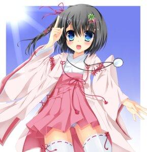 Rating: Safe Score: 39 Tags: dracu-riot! fujieda_uzuki mera_azusa pantsu shimapan thighhighs User: SlenderMan