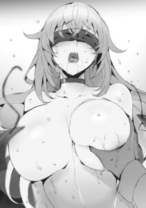 Rating: Questionable Score: 40 Tags: breast_grab censored hisasi masou_gakuen_hxh monochrome naked wet yurishia_farandole User: mash