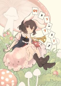 Rating: Safe Score: 12 Tags: animal_ears bunny_ears dress heels inaba_tewi inazakura00 skirt_lift tail touhou User: Mr_GT