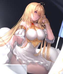 Rating: Safe Score: 106 Tags: dress granblue_fantasy jeanne_d'arc jeanne_d'arc_(granblue_fantasy) nikumocchi skirt_lift User: BattlequeenYume