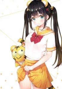 Rating: Safe Score: 49 Tags: animal_ears ayamy hachigo miyawaki_sana seifuku skirt_lift tail User: charunetra