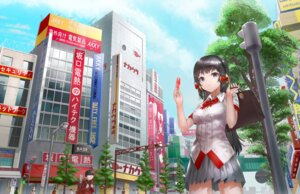 Rating: Safe Score: 20 Tags: headphones k.f.r. landscape seifuku User: KazukiNanako