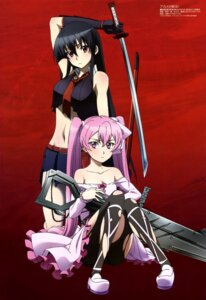 Rating: Questionable Score: 102 Tags: akame akame_ga_kill! gun mein pantyhose sword tanaka_kazuma torn_clothes User: drop