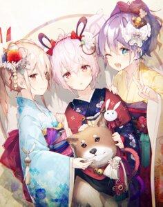 Rating: Safe Score: 101 Tags: animal_ears ayanami_(azur_lane) azur_lane bunny_ears javelin_(azur_lane) kimono laffey_(azur_lane) mizuya User: Mr_GT
