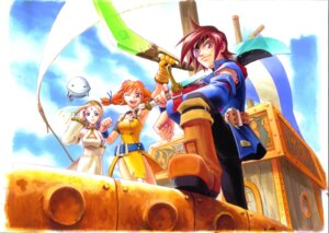Rating: Safe Score: 4 Tags: aika_(skies_of_arcadia) cupil dress fina skies_of_arcadia sword vyse weapon User: Radioactive
