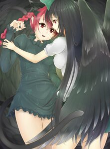 Rating: Safe Score: 17 Tags: animal_ears aogu kaenbyou_rin reiuji_utsuho tail touhou wings User: Mr_GT