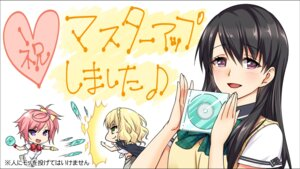 Rating: Safe Score: 10 Tags: amagai_yukino candysoft haruna_rita jiyuuni_yuuri maoten oumaga_karin seifuku wallpaper User: 糖果部部长