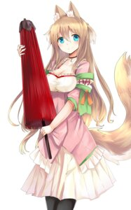 Rating: Safe Score: 75 Tags: animal_ears cleavage haik kitsune pantyhose tail User: tbchyu001