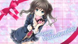 Rating: Safe Score: 60 Tags: aikawa_arisa_(kiss_ato) giga kiss_ato mikoto_akemi seifuku valentine wallpaper User: moonian