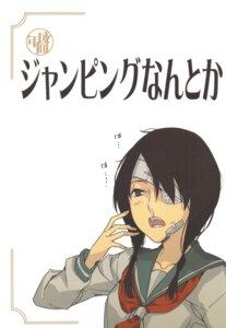 Rating: Safe Score: 5 Tags: bandages eyepatch kobushi_abiru morii_shizuki moriisan-tokono sayonara_zetsubou_sensei seifuku User: Radioactive