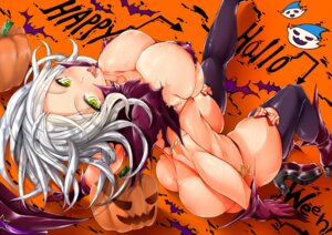 Rating: Questionable Score: 87 Tags: ass bikini cleavage erect_nipples halloween heels kantai_collection stem swimsuits ta-class_battleship thighhighs User: mash