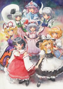 Rating: Safe Score: 12 Tags: alice_margatroid dress hakurei_reimu izayoi_sakuya kirisame_marisa konpaku_youmu maid miko misawa_hiroshi remilia_scarlet saigyouji_yuyuko touhou witch yakumo_yukari User: Mr_GT
