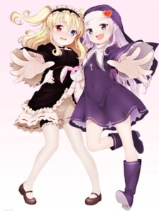 Rating: Questionable Score: 56 Tags: boku_wa_tomodachi_ga_sukunai eventh7 garter hasegawa_kobato heterochromia lolita_fashion nun takayama_maria thighhighs User: gnarf1975