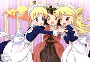Rating: Safe Score: 51 Tags: alice_cartelet dress hello!!_kin'iro_mosaic kin'iro_mosaic kujou_karen maid oomiya_shinobu User: drop