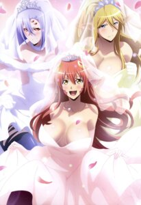 Rating: Questionable Score: 61 Tags: animal_ears centaurea_shianus cleavage dress miia_(monster_musume) monster_girl monster_musume_no_iru_nichijou rachnera_arachnera skirt_lift wedding_dress User: drop