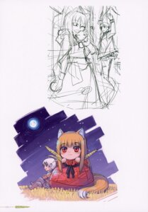 Rating: Safe Score: 2 Tags: animal_ears chibi craft_lawrence holo koume_keito sketch spice_and_wolf tail User: kiyoe
