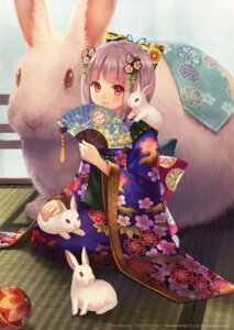 Rating: Safe Score: 54 Tags: fukahire_sanba kimono ruinon User: Radioactive