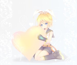 Rating: Safe Score: 4 Tags: kagamine_rin mikazuki_sara vocaloid User: charunetra