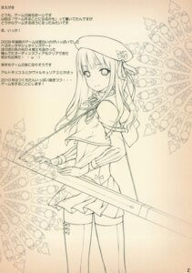Rating: Safe Score: 7 Tags: monochrome noantica ooji paper_texture thighhighs User: midzki