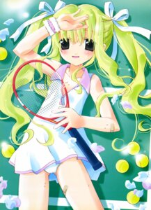 Rating: Questionable Score: 17 Tags: bandaid dress loli pantsu tennis wet yoshina_hijiki User: petopeto