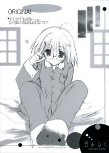 Rating: Safe Score: 5 Tags: ikegami_akane megane monochrome pajama User: admin2