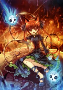 Rating: Safe Score: 40 Tags: animal_ears capura.l eternal_phantasia kaenbyou_rin nekomimi touhou User: midzki